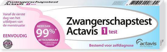 Actavis - 1 stuk - Zwangerschapstest