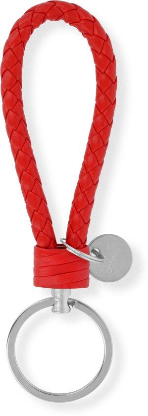 Sleutelhanger | Handgemaakte Rode Gevlochten Geweven Sleutelhanger| Mode| Auto Sleutelhanger Rood | Huissleutel | Metalen Sleutelhangers| Sleutelhanger Mannen of Vrouwen | Fietssleutel | Goedkope Sleutelhanger