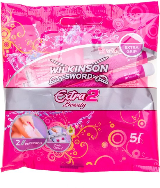 Wilkinson Sword Extra 2 beauty, extra grip, aloe vera  - Wegwerpscheermesjes (5 stuks)