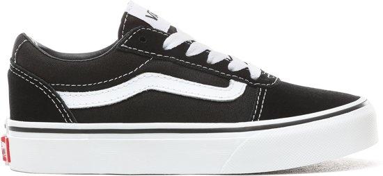 Vans Ward (SuedeCanvas) Sneakers Jongens BlackWhite Maat 34