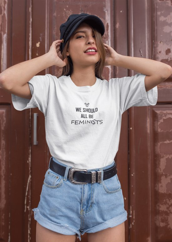 T Dames shirt We All Feminists Should Tekst Be N0k8wXPnO