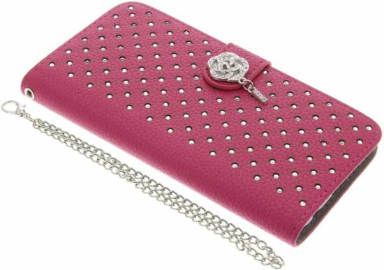 Cas Rose Booktype Strass Chic Pour Huawei P10 VIUG06VPt