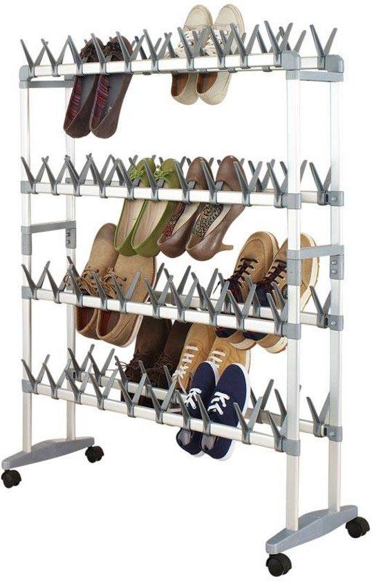 Mobiel schoenenrek voor 80 paar schoenen