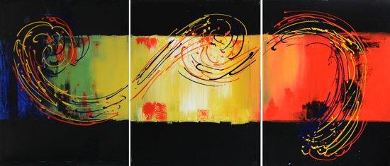 Schilderij 3 luik abstract 150x60 Artello - Handgeschilderd