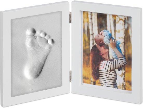 Baby fotolijst met gipsafdruk
