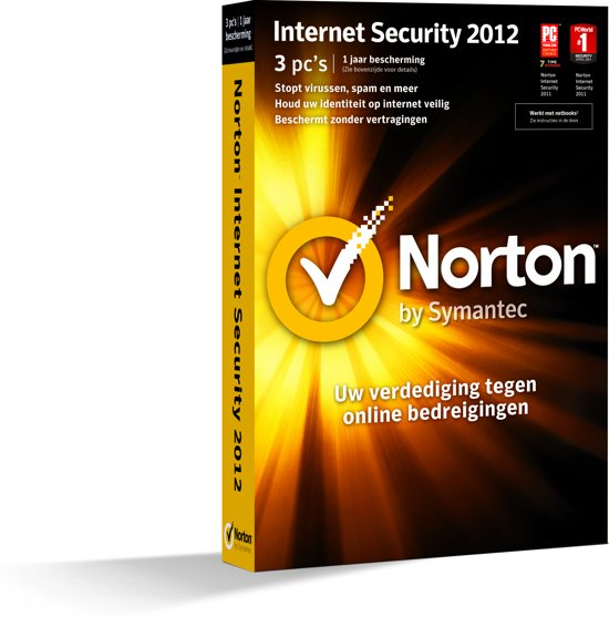 Symantec Norton Internet Security - 2012 / 3 gebruikers /  Attach Dvd / Nederlands / WIN