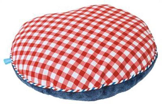 Lief! Kattenkussen Voor Koffer Uni Blauw/Rood - 40X35X10 CM