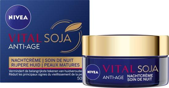 NIVEA VITAL Soja Anti-Age 65+ - Nachtcrème - Anti-Rimpel - 50 ml