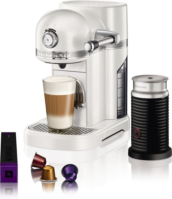 Nespresso KitchenAid Artisan 5KES0504EMS/3 + Melkopschuimer