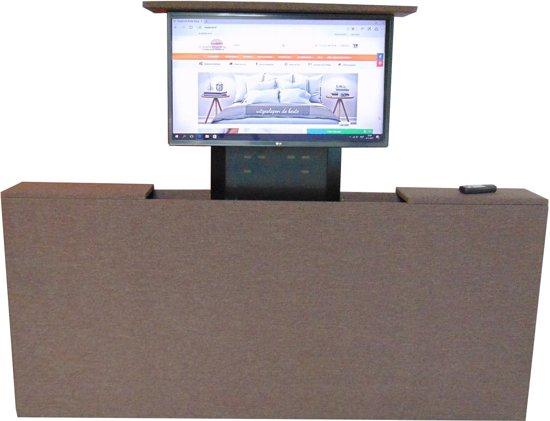 Tv Kast Bed.Bol Com Slaaploods Nl Voetbord Met Tv Lift 120x80x20 Cm Bruin