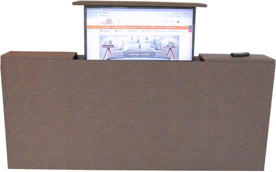 Slaaploodsnl Voetbord Met Tv Lift 120x80x20 Cm Bruin