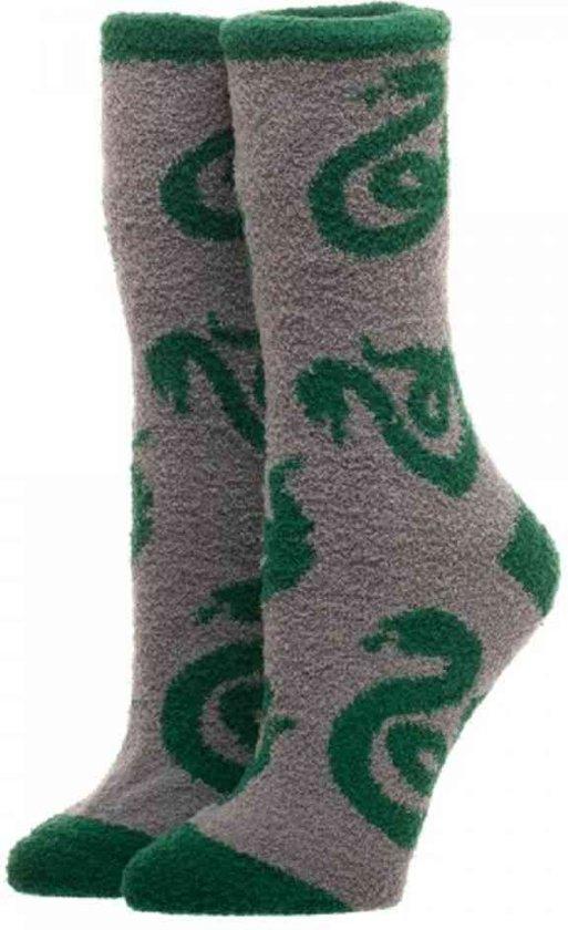 Bedwelming bol.com | Harry Potter - Slytherin fuzzy sokken grijs/groen &PY63