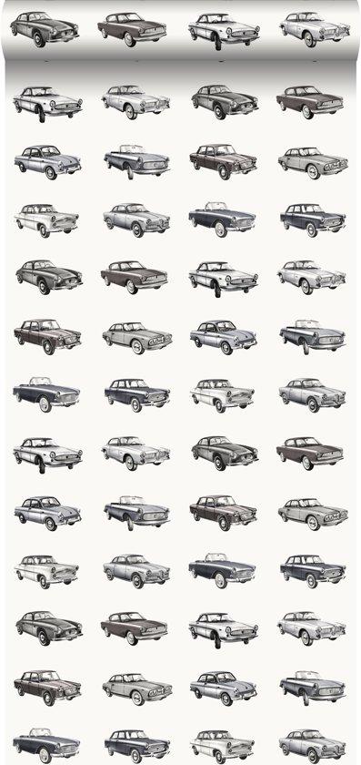 Kinderbehang Met Autos.Bol Com Estahome Behang Vintage Auto S Zwart 138733