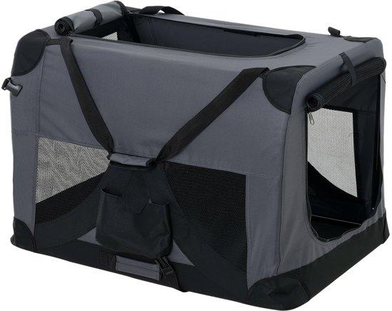 [pro.tec]® Dieren transportbox - reismand - grijs - S