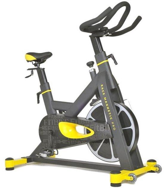 bol com fitbike race magnetic pro spinningfiets zwart geelfitbike race magnetic pro spinningfiets zwart geel