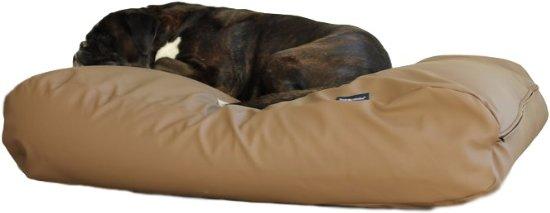 Dog's Companion Hondenkussen - XS  - 55 x 45 cm - Kunstleer - Taupe Leather Look