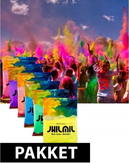 Holi kleurpoeder pakket 7 stuks - kleurenpoeder Valentinaa