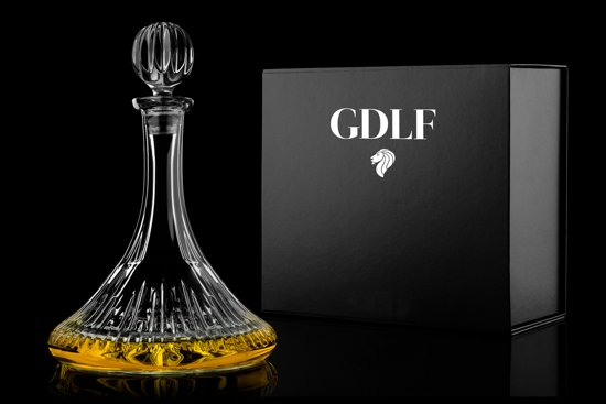 Handgeslepen Kristallen scheepskaraf Royal Collectie by GDLF