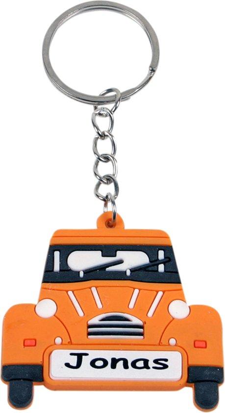 Cadeau Voor Pasen Rubberen Naam Sleutelhanger Gele Auto