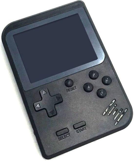 Afbeelding van 8Bit Portable Game Console Zwart - Draagbare Handheld - Retro Spelcomputer - 400 Ingebouwde Games