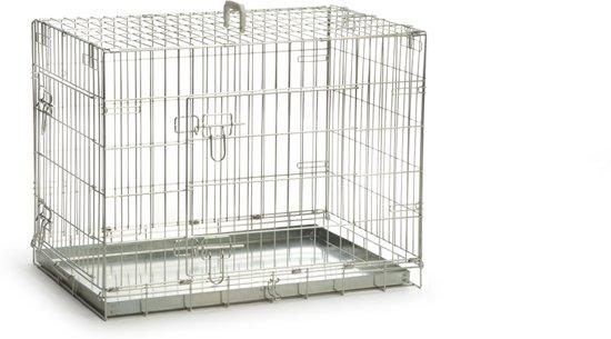 Beeztees - Hondenbench - 2 Deurs - Verzinkt - S - 78x55x61 cm