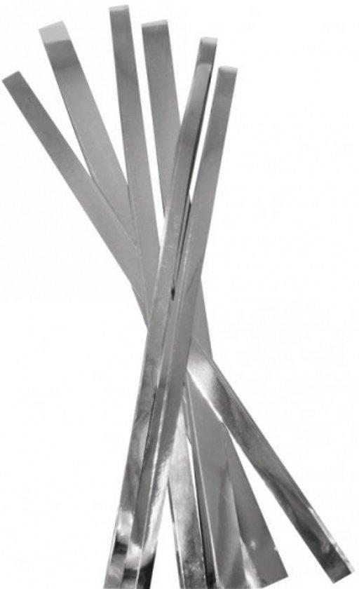 Papierstroken zilver hobby papier