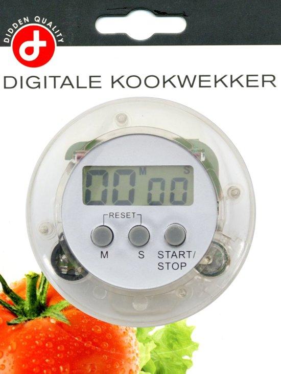 Digitale Ronde LCD Eierwekker - Kookwekker - eier - kook - wekker - timer - 2 stuks