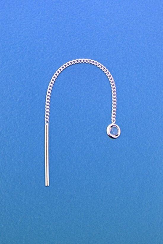 The Jewelry Collection Doortrekoorbellen Zirkonia - Zilver