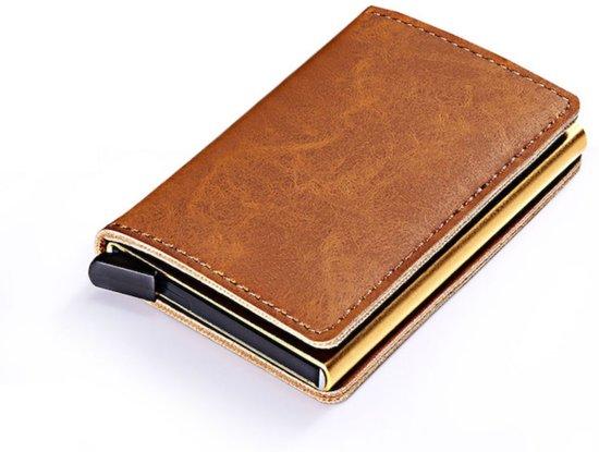5a847d73988 luxe kaarthouder-Card Protector in 100% Kwaliteit -Leder - RFID-  Pasjeshouder-