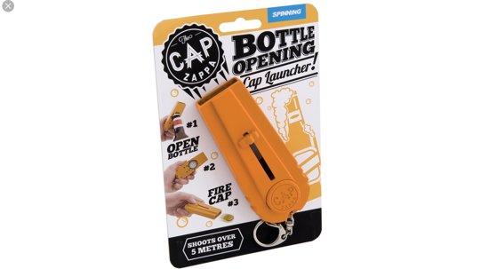 Bierdop Opener en Schieter - The Cap Zappa - Oranje