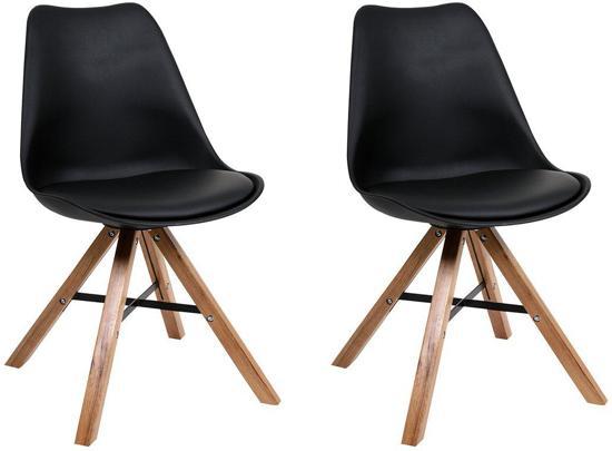 Bol.com butik living consilium trent stoel zwart set van 2