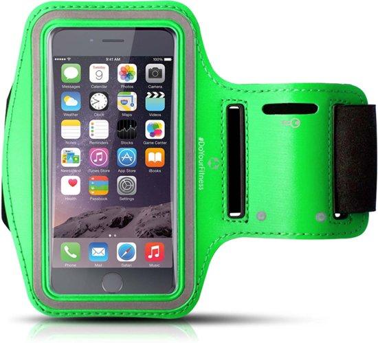 #DoYourFitness - Sportarmband - »RunnerMan« - Hardlooparmband voor telefoon - SMALL 60 cm - groen