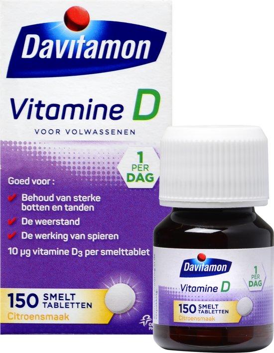 Davitamon D Volwassenen smelttabletten - 150 stuks - Voedingssupplement