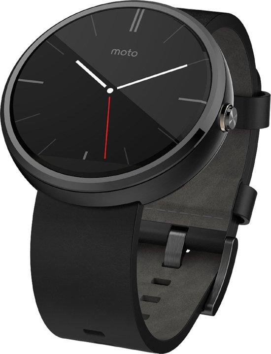 Motorola Moto 360 smartwatch - Zwart met leren band