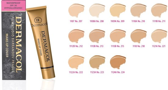 Dermacol camouflage make-up cover Legendary high covering make-up - 30 gram - vrouw - Waterproof - Tint 207