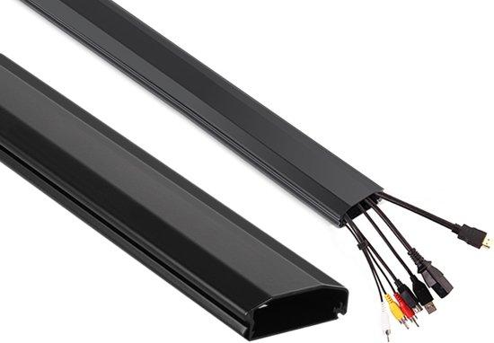 Kabelkanaal Kabel Organizer Aluminium Maclean Zwart