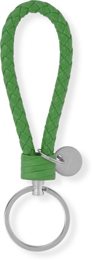 Sleutelhanger | Handgemaakte Groene Gevlochten Geweven Sleutelhanger| Mode| Auto Sleutelhanger Groen | Huissleutel | Metalen Sleutelhangers| Sleutelhanger Mannen of Vrouwen | Fietssleutel | Goedkope Sleutelhanger