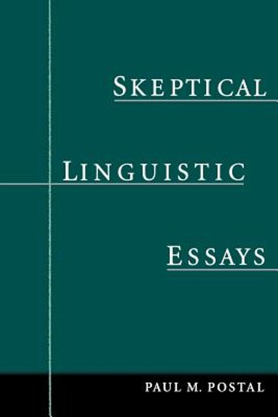 "linguistics essay 2 essay Free essay: in ""course in general linguistics"", saussure does two things to develop his system for evaluating linguistics: he chooses language as his."