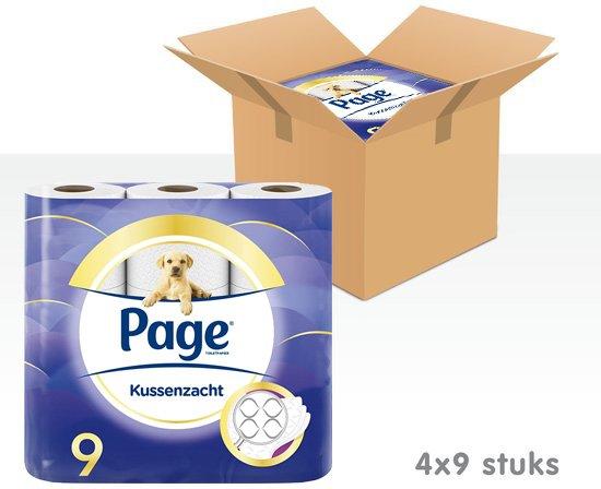 Page Kussenzacht - 4x 9 rollen - Toiletpapier - Voordeelverpakking