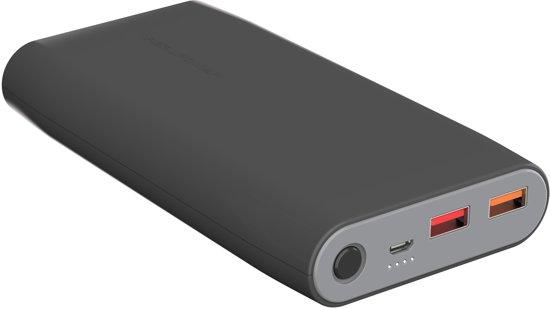 RealPower PB-20000 - Powerbank 20000 mAh met 2 USB-poorten - Zwart