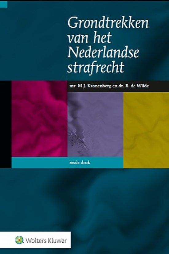 Boek cover Grondtrekken van het Nederlandse strafrecht van M.J. Kronenberg (Hardcover)