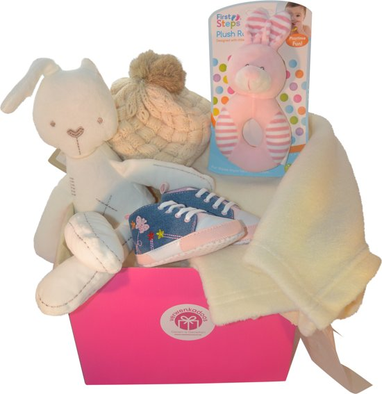 Babydoos - It's a Girl - Cadeau tip (geschenkmand)