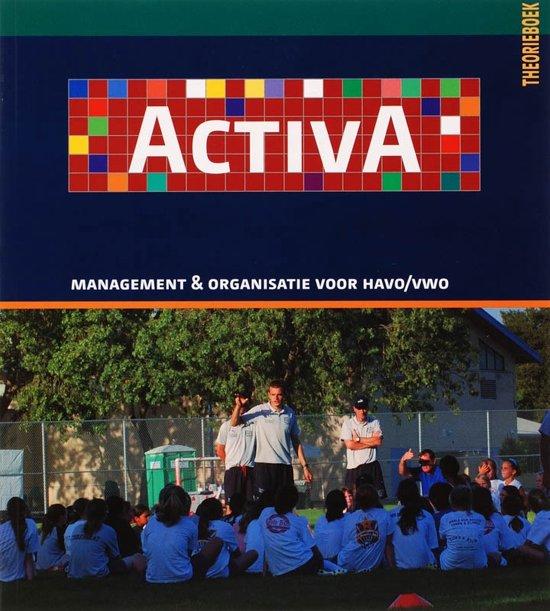 Activa Management Organisatie Havo vwo Theorieboek 1