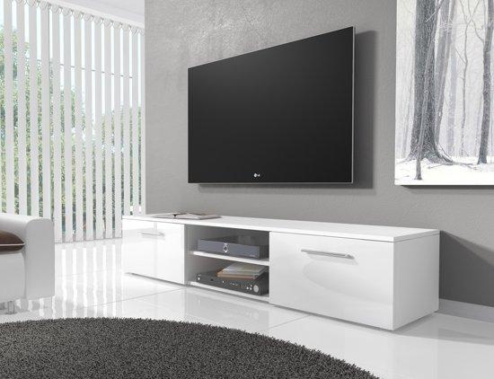 Witte Tv Meubel : De steigeraar wit tv meubel met eiken laden