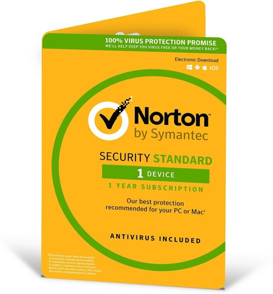 Norton Security Standard 3.0 - Engels / 1 Apparaat / 1 Jaar / Windows / Mac / iOS / Android
