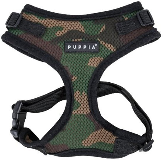 Puppia Ritefit Hondentuig - S - borstomvang 28-38 cm - Camouflage
