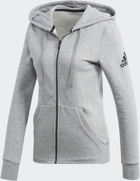 a44265b78ff bol.com   adidas Essentials Solid FZ Hoodie Vest Dames - Medium Grey ...