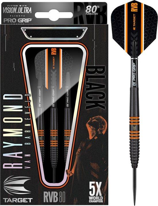 Target Raymond van Barneveld RVB 80 Black 80% 24 gram Steeltip Dartpijlen