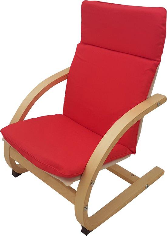 Kinder Relax Stoel.Bol Com Playwood Houten Relax Stoel Voor Kinderen Met Rode