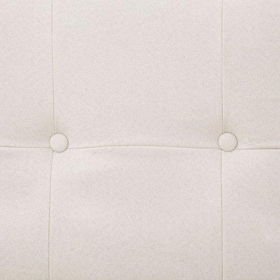 vidaXL Slaapbank met armleuning polyester crème